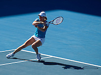 Justine Henin (BEL) against Jie Zheng (CHN) in the Semi Finals of the Womens Singles . Henin beat Zheng 6-1 6-0..International Tennis - Australian Open Tennis - Thur 28  Jan 2010 - Melbourne Park - Melbourne - Australia ..© Frey - AMN Images, 1st Floor, Barry House, 20-22 Worple Road, London, SW19 4DH.Tel - +44 20 8947 0100.mfrey@advantagemedianet.com