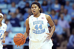 03 February 2013: North Carolina's Tierra Ruffin-Pratt. The University of North Carolina Tar Heels played the Duke University Blue Devils at Carmichael Arena in Chapel Hill, North Carolina in an NCAA Division I Women's Basketball game. Duke won the game 84-63.