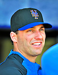 2 March 2010: New York Mets' right fielder Jeff Francoeur chats in the dugout prior to a game against the Atlanta Braves during the Opening Day of Grapefruit League play at Tradition Field in Port St. Lucie, Florida. The Mets defeated the Braves 4-2 in Spring Training action. Mandatory Credit: Ed Wolfstein Photo
