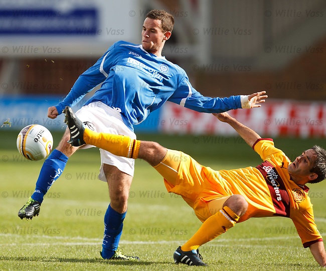 Keith Lasley tackles Kevin Moon