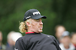 Miguel Angel Jimenez just misses a birdie putt on the 4th hole during the 3rd round of the BMW PGA Championship at Wentworth Club, Surrey, England 26th may 2007 (Photo by Eoin Clarke/NEWSFILE)