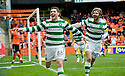 17/10/2010   Copyright  Pic : James Stewart.sct_jsp016_dundee_utd_v_celtic  .:: GARY HOOPER CELEBRATES AFTER HE SCORES CELTIC'S LATE WINNER :: .James Stewart Photography 19 Carronlea Drive, Falkirk. FK2 8DN      Vat Reg No. 607 6932 25.Telephone      : +44 (0)1324 570291 .Mobile              : +44 (0)7721 416997.E-mail  :  jim@jspa.co.uk.If you require further information then contact Jim Stewart on any of the numbers above.........
