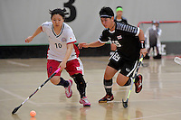 Japan&rsquo;s Yuki Takahashi in action during the World Floorball Championships 2017 Qualification for Asia Oceania Region - Japan v Thailand at ASB Sports Centre , Wellington, New Zealand on Saturday 4 February 2017.<br /> Photo by Masanori Udagawa<br /> www.photowellington.photoshelter.com.