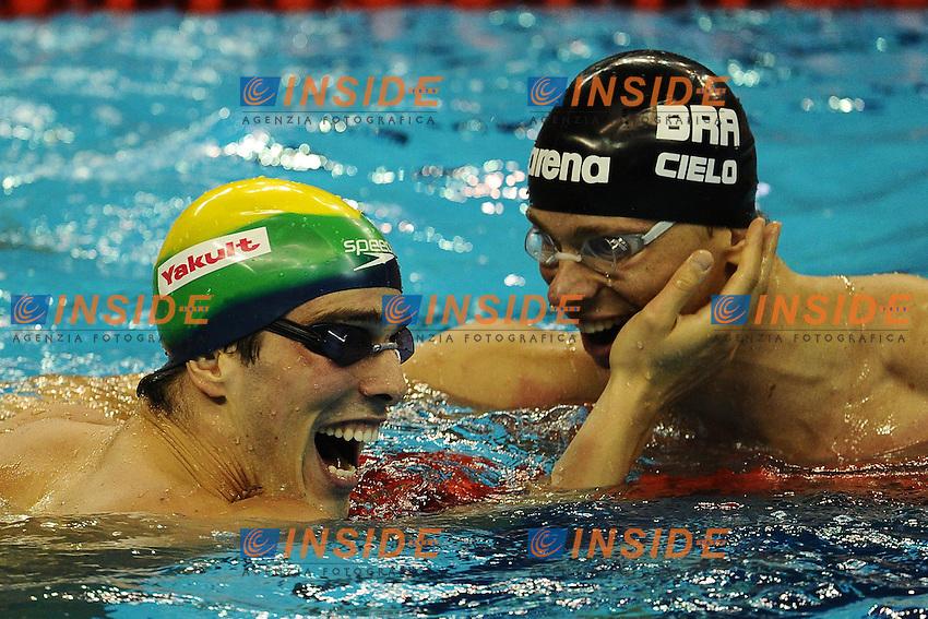 Bruno FRATUS Brazil, Cesar CIELO FILHO Brazil.Men's 50m Freestyle - Swimming / Nuoto.Shanghai 29/7/2011 .14th FINA World Championships.Foto Andrea Staccioli Insidefoto