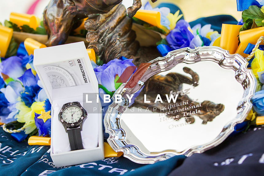 SILVERWARE: 2014 NZL-BNZ Kihikihi International Horse Trial (Sunday 13 April) CREDIT: Libby Law COPYRIGHT: LIBBY LAW PHOTOGRAPHY - NZL