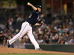 Reno Aces' Kevin Munson pitches against the Las Vegas 51s, in Reno, Nev., on Saturday, Sept. 6, 2014. The Aces won 7-3, to win the Pacific Conference Championship Series. <br /> Photo by Cathleen Allison