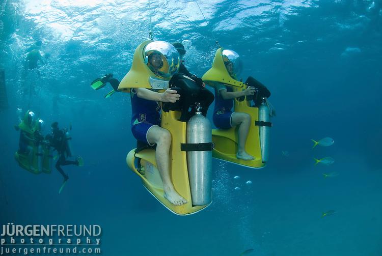 Great Adventures Pontoon with activities like Scubadoo, helicopter rides, snorkling.Great Barrier Reef, Queensland, Australia