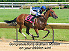 Rachel Wall winning at Delaware Park on 6/9/15 earning H. Graham Motion his 2000th training victory!