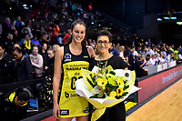 Pulse Coach Yvette McCausland-Durie and Pulse&rsquo; Ameliaranne Ekenasio, ANZ Premiership - Pulse v Stars at TSB Arena, Wellington, New Zealand on Monday 13 May 2019. <br /> Photo by Masanori Udagawa. <br /> www.photowellington.photoshelter.com