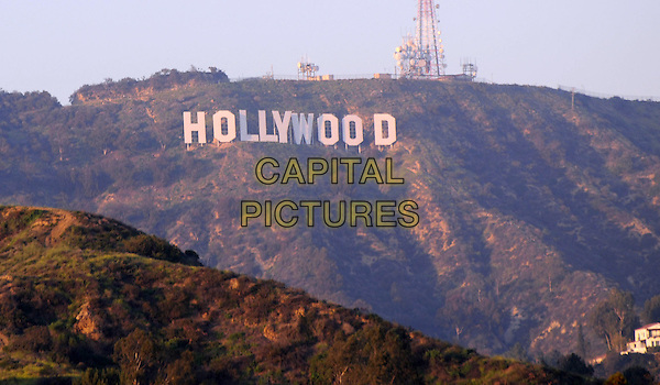HOLLYWOOD SIGN.As seen from the Hollywood & Highland complex, Hollywood, Los Angeles, California, CA, USA, 16 February 2008..the california America landmark hills L.A. LA.CAP/ADM/BP.?Byron Purvis/Admedia/Capital Pictures