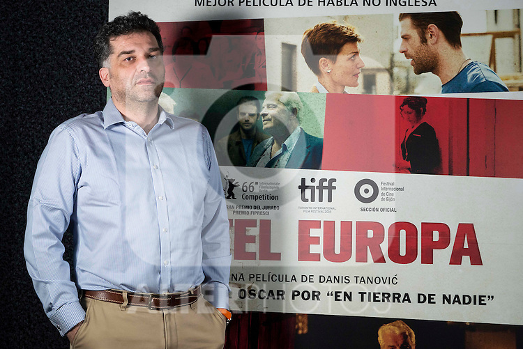 "Bosnian director Danis Tanovic during the presentation of his film ""Hotel Europa (Death in Sarajevo) in Madrid, Spain. January 27, 2017. (ALTERPHOTOS/BorjaB.Hojas)"