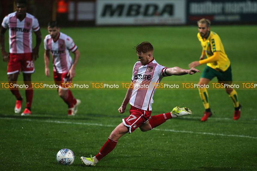 Stevenage score their second goal from the penalty spot during Stevenage vs Norwich City, Friendly Match Football at the Lamex Stadium on 11th July 2017