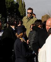 Jovanotti  partecipa ai funerali  di  Pino Daniele al santuario del divino amore di Roma