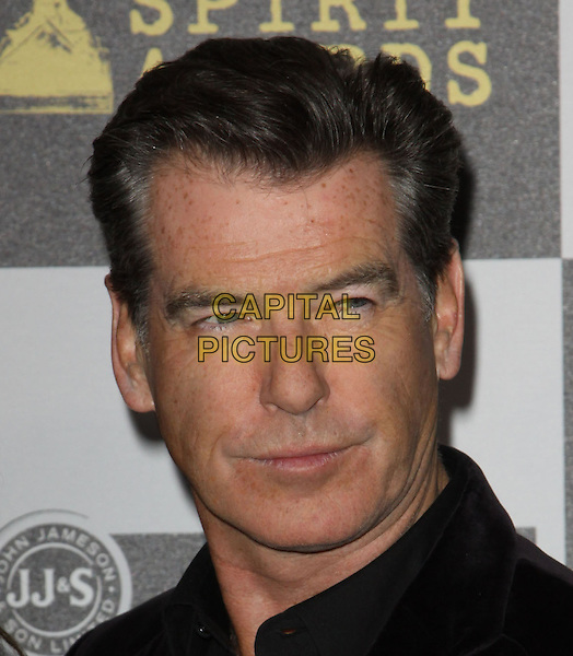 PIERCE BROSNAN .25th Annual Film Independent Spirit Awards held At The Nokia LA Live, Los Angeles, California, USA,.March 5th, 2010 ..arrivals Indie Spirit portrait headshot black .CAP/ADM/KB.©Kevan Brooks/Admedia/Capital Pictures