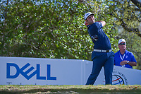 Keegan Bradley (USA) watches his tee shot on 12 during round 1 of the World Golf Championships, Dell Match Play, Austin Country Club, Austin, Texas. 3/21/2018.<br /> Picture: Golffile | Ken Murray<br /> <br /> <br /> All photo usage must carry mandatory copyright credit (&copy; Golffile | Ken Murray)