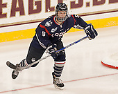 Jessica Stott (UConn - 9) - The Boston College Eagles defeated the visiting UConn Huskies 4-0 on Friday, October 30, 2015, at Kelley Rink in Conte Forum in Chestnut Hill, Massachusetts.