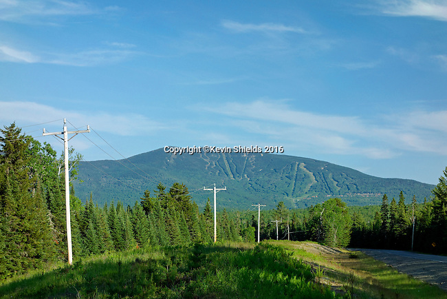 Summer view of Saddleback ski area, Maine, USA.