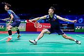 17th March 2018, Arena Birmingham, Birmingham, England; Yonex All England Open Badminton Championships; Zhang Nan (CHN) and Li Yinhui (CHN) in their semi-final match against Yuta Watanabe (JPN) and Arisa Higashino (JPN)