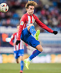 Antoine Griezmann of Atletico de Madrid in action during their Copa del Rey 2016-17 Quarter-final match between Atletico de Madrid and SD Eibar at the Vicente Calderón Stadium on 19 January 2017 in Madrid, Spain. Photo by Diego Gonzalez Souto / Power Sport Images