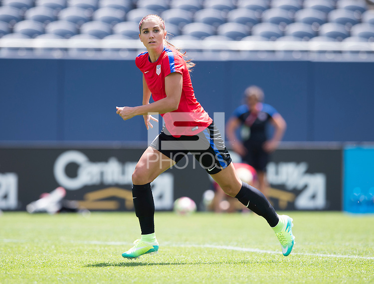 Chicago, IL - July 8, 2016: The USWNT trains in preparation for their international friendly against South Africa at Soldier Field.