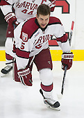 Clay Anderson (Harvard - 5) - The Harvard University Crimson defeated the visiting Princeton University Tigers 5-0 on Harvard's senior night on Saturday, February 28, 2015, at Bright-Landry Hockey Center in Boston, Massachusetts.