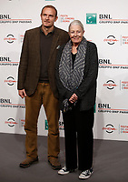 L'attrice britannica Vanessa Redgrave posa con il figlio Carlo Gabriel Nero durante un photocall alla Festa del Cinema di Roma, 2 novenbre 2017.<br /> British actress Vanessa Redgrave poses with her son Carlo Gabriel Nero for a photocall during the international Rome Film Festival at Rome's Auditorium, November 2, 2017.<br /> UPDATE IMAGES PRESS/Isabella Bonotto