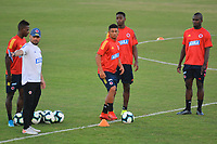 BARRANQUILLA - COLOMBIA .7-01-2020:Entrenamiento de la selección Colombia sub-23 en el estadio Romelio Martínez de la ciudad  Barranquilla donde se prepara para el Torneo Preolímpico que se disputará en Colombia entre el 18 de enero y el 19 de febrero /<br /> Training of the Colombia U23 team at the Romelio Martínez stadium in the city of Barranquilla where he prepares for the Pre-Olympic Tournament to be held in Colombia between January 18 and February 19 Photo: VizzorImage / Alfonso Cervantes / Contribuidor/