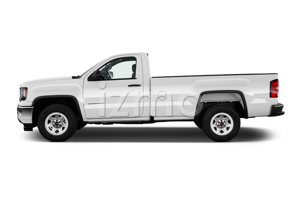 Car Driver side profile view of a 2016 GMC Sierra-1500 2WD-Regular-Cab-Long-Box 2 Door Pick-up Side View