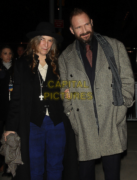 NEW YORK, NY - FEBRUARY 26 2014 -Patti Smith, Ralph Fiennes at the premiere of the Grand Budapest Hotel at Alice Tully Hall Lincoln Center in New York .Credit: RW/MediaPunch<br /> CAP/MPI/RW<br /> &copy;RW/ MediaPunch/Capital Pictures