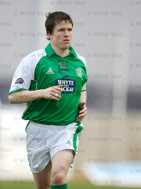 Gary Caldwell, Hibs.stock season 2005-2006.pic willie vass