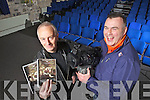 Listowel native Joe Murphy and Tralee camerman Rory Kirby of Road Sign Media, who will have their documentary aired this St Patrick's Day on TG4, pictured here last Tuesday in St John's Theatre, Listowel.
