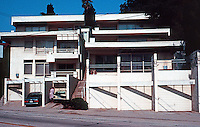 Rudolph Schindler: Bubeshko Apt. Building, 1938 and 1941. Griffith Park Blvd. at Lyric Ave. #4, p. 184. Photo '91.