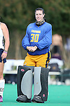 26 September 2014: California's Courtney Hendrickson. The Duke University Blue Devils hosted the University of California Bears at Jack Katz Stadium in Durham, North Carolina in a 2014 NCAA Division I Field Hockey match. Duke won the game 2-0.