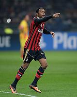 FUSSBALL  CHAMPIONS LEAGUE   SAISON 2013/2014   Vorrunde     AC Mailand - FC Barcelona       22.10.2013 JUBEL Mailand; Torschuetze zum 1-0 Robinho