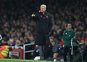 2nd November 2017, Emirates Stadium, London, England; UEFA Europa League group stage, Arsenal versus Red Star Belgrade; Arsenal manager Arsene Wenger giving instructions to his players from the touchline during the 2nd half