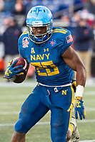 Annapolis, MD - DEC 28, 2017: Navy Midshipmen running back Josh Brown (28) runs the football during game between Virginia and Navy at the Military Bowl presented by Northrop Grunman at Navy-Marine Corps Memorial Stadium Annapolis, MD. (Photo by Phil Peters/Media Images International)