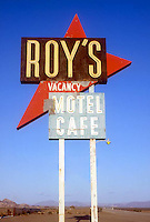 Roy's Motel & Cafe sign on old Route 66 in Amboy, CA