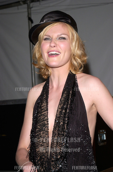 Actress KIRSTEN DUNST at the MTV Movie Awards in Los Angeles. She co-presented the show..02JUN2001.