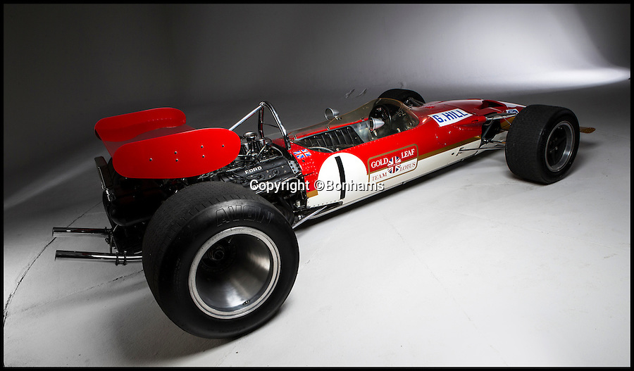 BNPS.co.uk (01202 558833)<br /> Pic: Bonhams/BNPS<br /> <br /> ***Please use full byline***<br /> <br /> A classic Formula 1 car raced by British track legend Graham Hill has emerged for sale with a whopping &pound;1million price tag.<br /> <br /> Enigmatic driver Hill was reigning F1 world champion when he took delivery of the Lotus 49B in 1968.<br /> <br /> The car's predecessor, the Lotus 49, had set a new benchmark for performance and handling when it was unveiled the previous year.<br /> <br /> Hill raced the motor in the Tasman Championship in early 1969, notching up two second places and finishing fourth in the Australian Grand Prix in Brisbane.