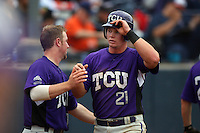 February 22 2009: Matt Vern of the TCU Horned Frogs during game against the CSUF Titans at Goodwin Field in Fullerton,CA.  Photo by Larry Goren/Four Seam Images