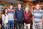 "Writers week : Author of ""The Busby Babes"" Richard Skinner, centre, pictured with Sinead McKenna, Andrew O'Neill, Weeshie Fogarty John Walsh at Mike the Pies Bar, Listowel on Thursday evening last."