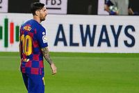16th July 2020; Camp Nou, Barcelona, Catalonia, Spain; La Liga Football, Barcelona versus Osasuna; Leo Messi looks bewildered as his team lose to Osasuna 1-2