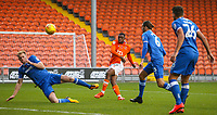 Blackpool's Viv Solomon-Otabor shoots over the bar<br /> <br /> Photographer Alex Dodd/CameraSport<br /> <br /> The EFL Sky Bet League One - Blackpool v Portsmouth - Saturday 11th November 2017 - Bloomfield Road - Blackpool<br /> <br /> World Copyright &copy; 2017 CameraSport. All rights reserved. 43 Linden Ave. Countesthorpe. Leicester. England. LE8 5PG - Tel: +44 (0) 116 277 4147 - admin@camerasport.com - www.camerasport.com