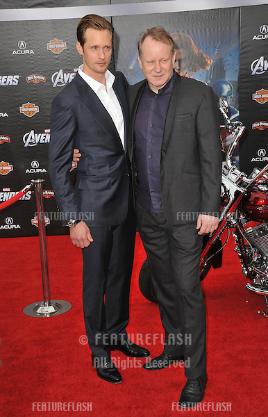 "Stellan Skarsgard & son Alexander Skarsgard at the world premiere of his new movie ""Marvel's The Avengers"" at the El Capitan Theatre, Hollywood..April 11, 2012  Los Angeles, CA.Picture: Paul Smith / Featureflash"