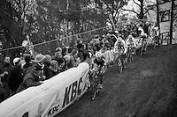 Klaas Vantornout (BEL) descending 1st<br /> <br /> UCI Worldcup Heusden-Zolder Limburg 2013