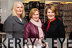 Helen McLouglin Noreen O'Brien and Maureen Weir, pictured at Ch Chemist, Tralee, beauty evening on Friday night.