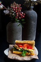 Baguette, vietnamesisches Restaurant BAN BANH-MI, Beim Gr&uuml;nen J&auml;ger 3, Hamburg- St. Pauli, Deutschland, Europa<br /> Sandwich, Vietnamese Restaurant  BAN BANH Mi, Hamburg- St. Pauli, Germany Europe