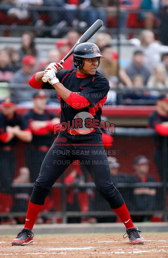 Brandon Meredith - 2009 San Diego State Aztecs playing against the Texas Christian Horned Frogs at Tony Gwynn Stadium, San Diego, CA - 04/24/2009 .Photo by:  Bill Mitchell/Four Seam Images