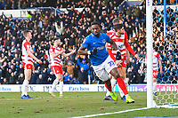 Omar Bogle of Portsmouth scores and celebrates during Portsmouth vs Doncaster Rovers, Sky Bet EFL League 1 Football at Fratton Park on 2nd February 2019