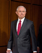 """United States Attorney General Jeff Sessions arrives to give testimony before the US Senate Select Committee on Intelligence to  """"examine certain intelligence matters relating to the 2016 United States election"""" on Capitol Hill in Washington, DC on Tuesday, June 13, 2017.  In his prepared statement Attorney General Sessions said it was an """"appalling and detestable lie"""" to accuse him of colluding with the Russians.<br /> Credit: Ron Sachs / CNP<br /> (RESTRICTION: NO New York or New Jersey Newspapers or newspapers within a 75 mile radius of New York City)"""